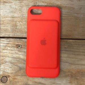 iPhone 7/8 Apple 🍎 Red Silicone Charging Case